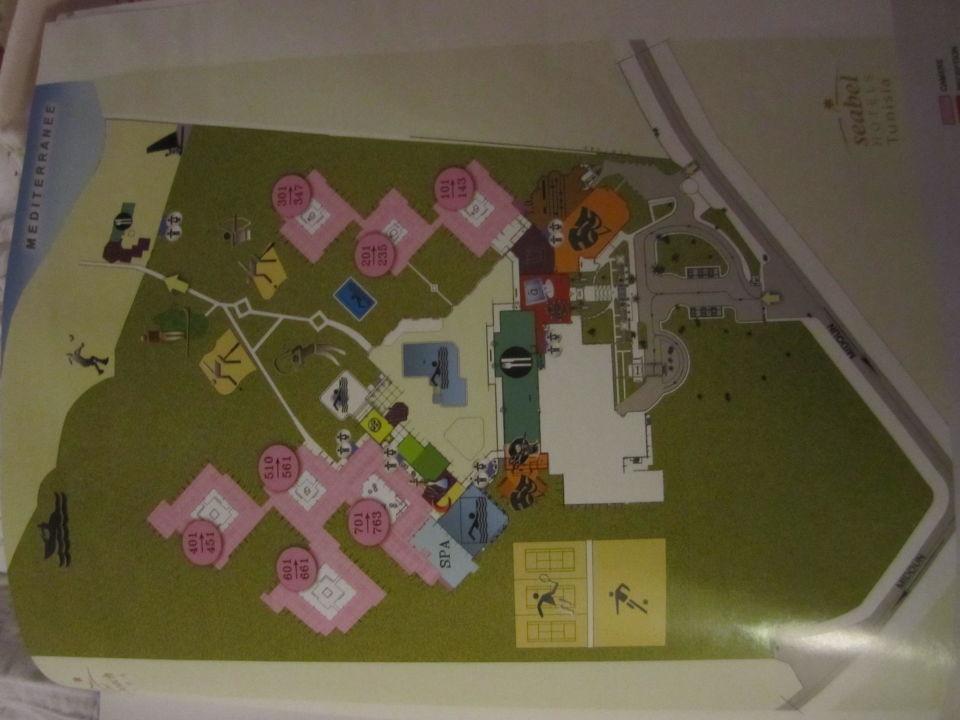 Plan Der Zimmer Hotel Seabel Rym Beach Djerba