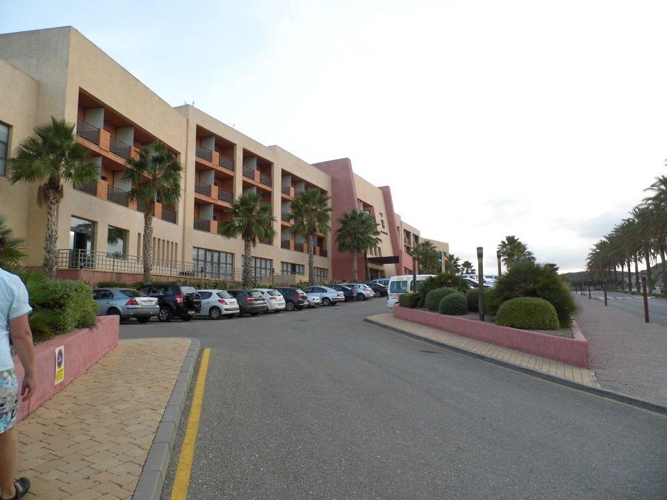Sicht vom Parkplatz Hotel Valle del Este Golf Spa