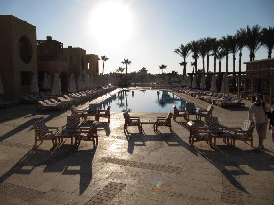 Nochmal Pool am Abend Steigenberger Golf Resort El Gouna
