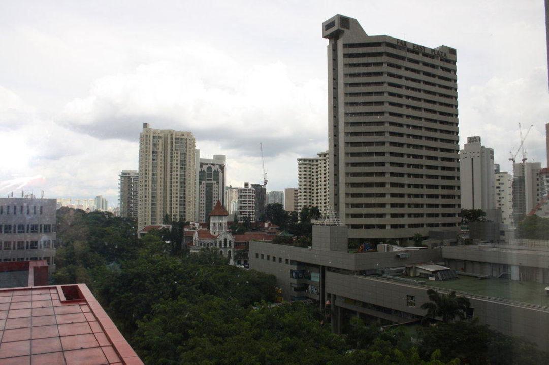 Ausblick von unserem Zimmer Hotel Royal Plaza on Scotts