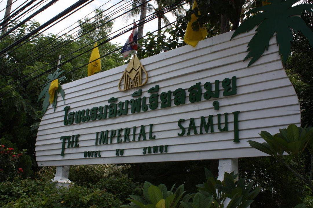 Hotelschild The Imperial Samui (Vorgänger-Hotel – existiert nicht mehr)