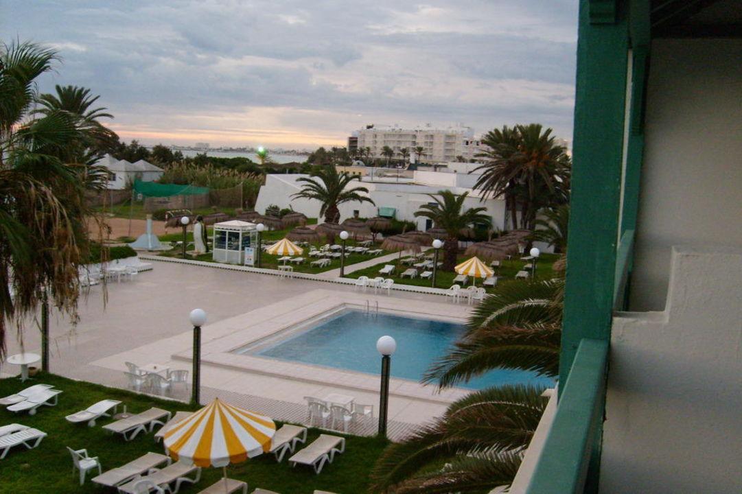 Blick vom Balkon unseres Zimmer Hotel El Mouradi Cap Mahdia