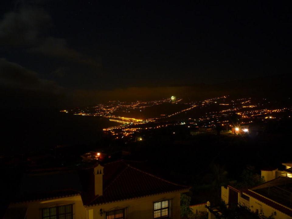 Ausblick bei Nacht Hotel Piedra Verde