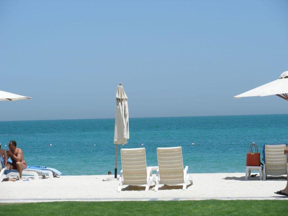 Blick aus dem Zimmer zum Strand Hilton Ras Al Khaimah Resort & Spa