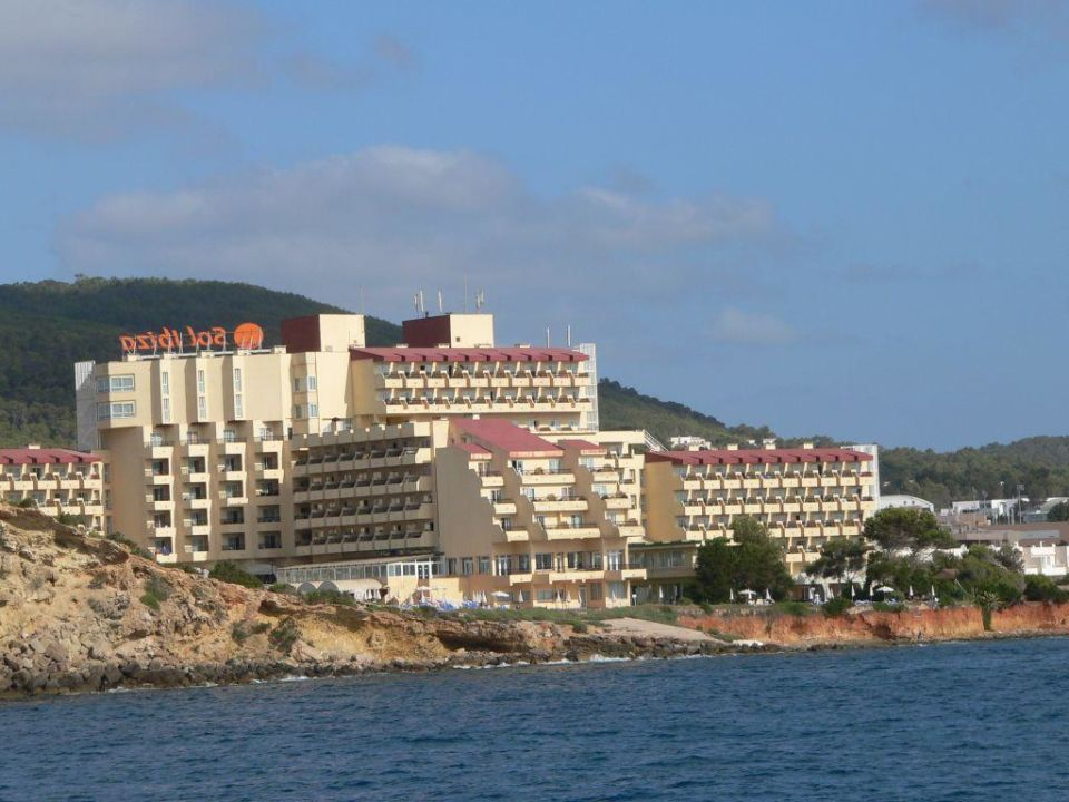 Sol Ibiza vom Meer aus Sol Beach House Ibiza