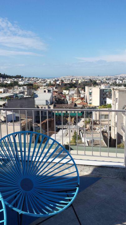 Ausblick Dachterrasse Hotel Evripides