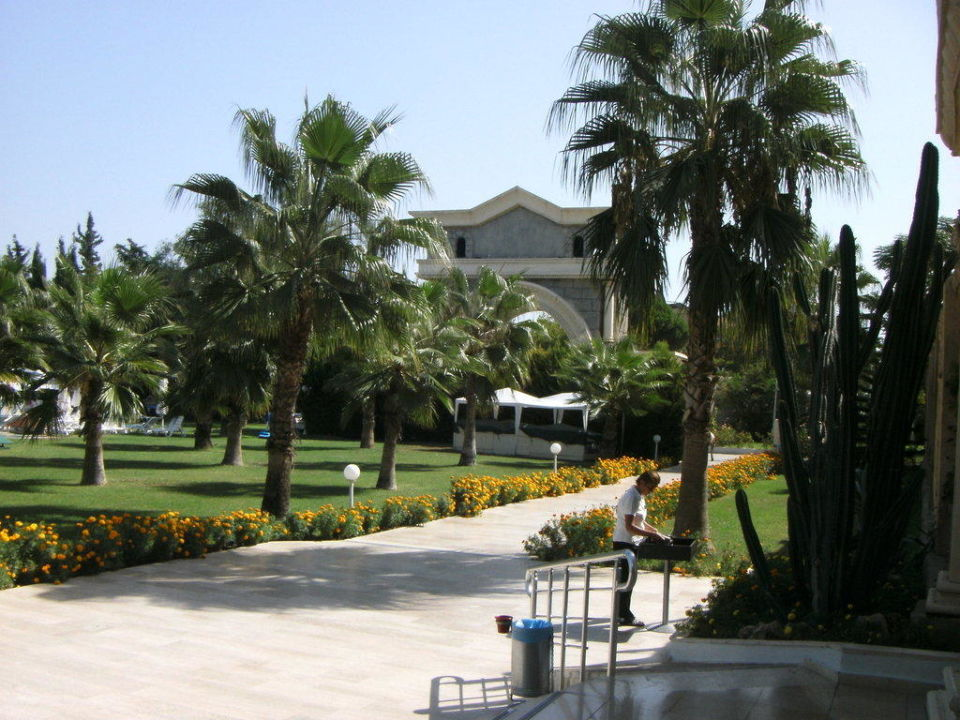 Gartenanlage beim Haupteingang Cesars Resort Side