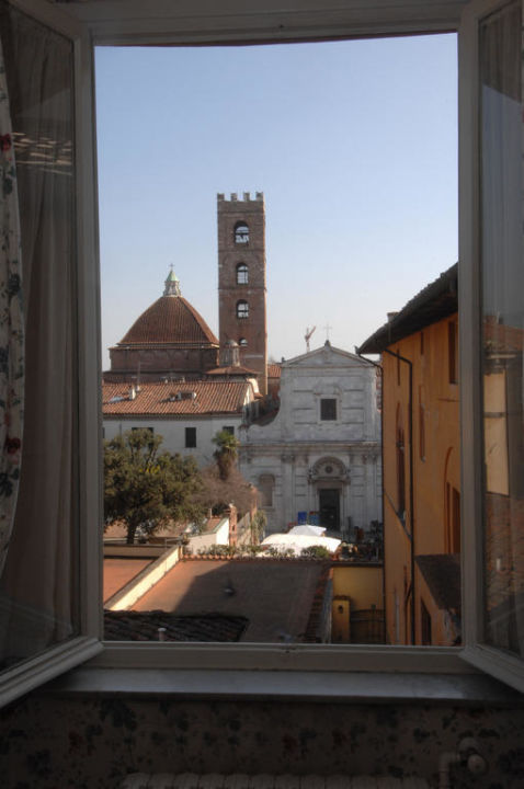 View from the window of room nr. 70 Hotel Universo