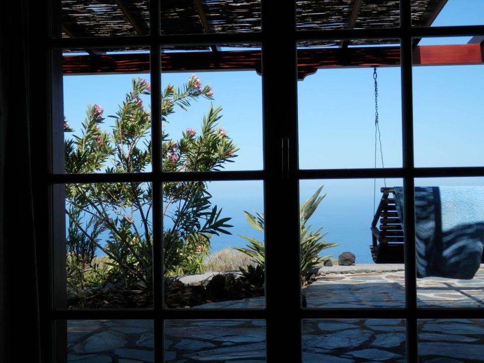 Blick aus dem Schlafzimmer Casa Petra
