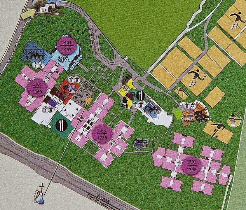Plan Der Anlage Aus Dem Hotelprospekt Hotel Seabel Alhambra Beach Golf U0026 Spa