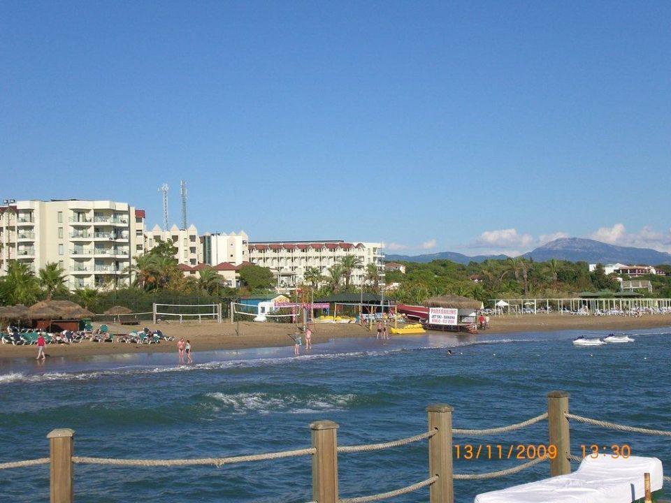 Sicht vom Nachbar Steg Arcanus Side Resort