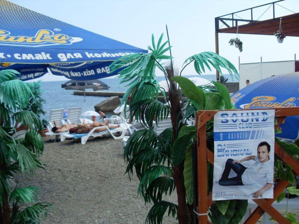 Вход на пляж soundclub Hotel Moskwa
