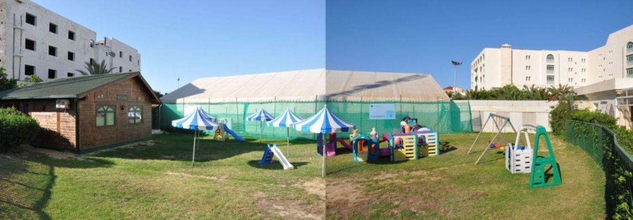 Spielplatz & Hütte der Kinderanimation Mehari Hammamet Hotel