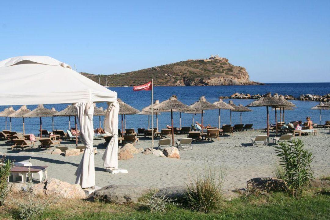 Der Hoteleigene Strand Grecotel Exclusive Resort Cape Sounio Kap