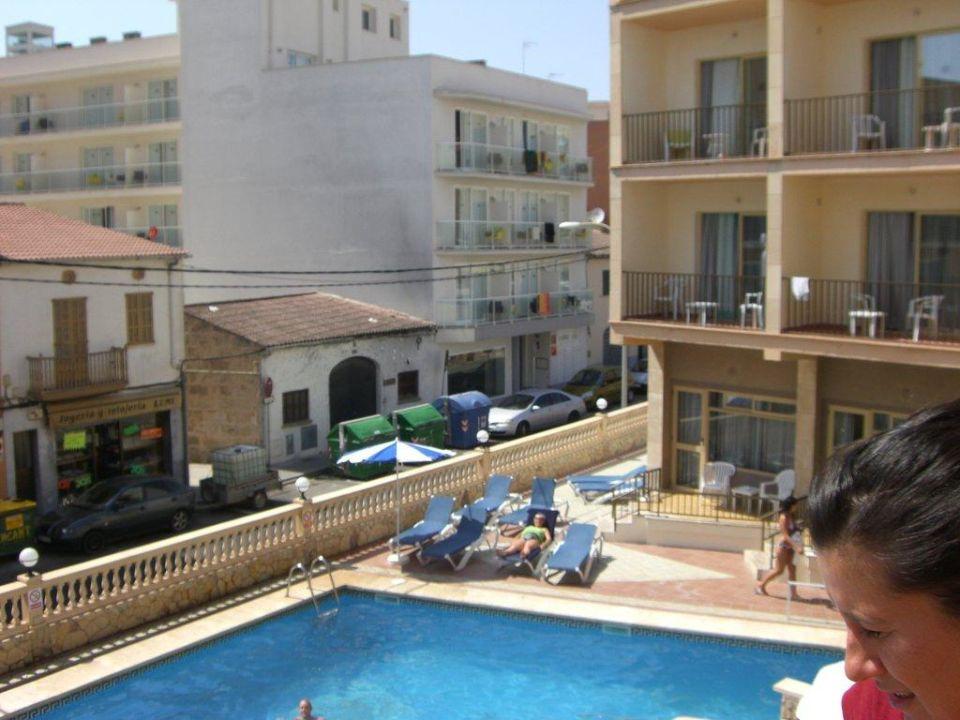Ausblick Vom Balkon Hotel Iris Platja De Palma Playa De Palma