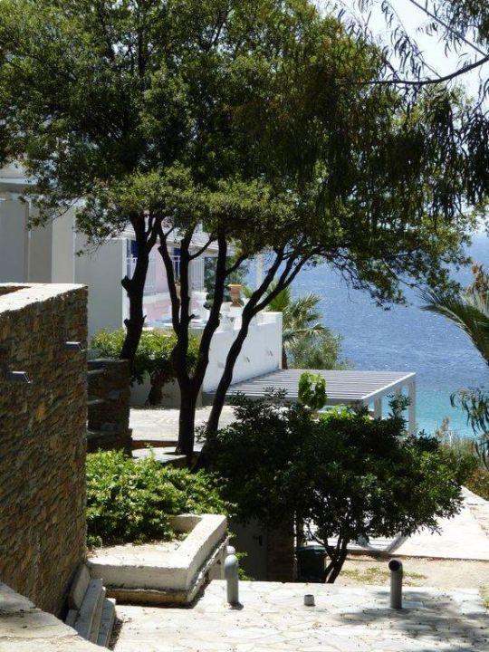 Garten des Hotels Hotel Aneroussa Beach