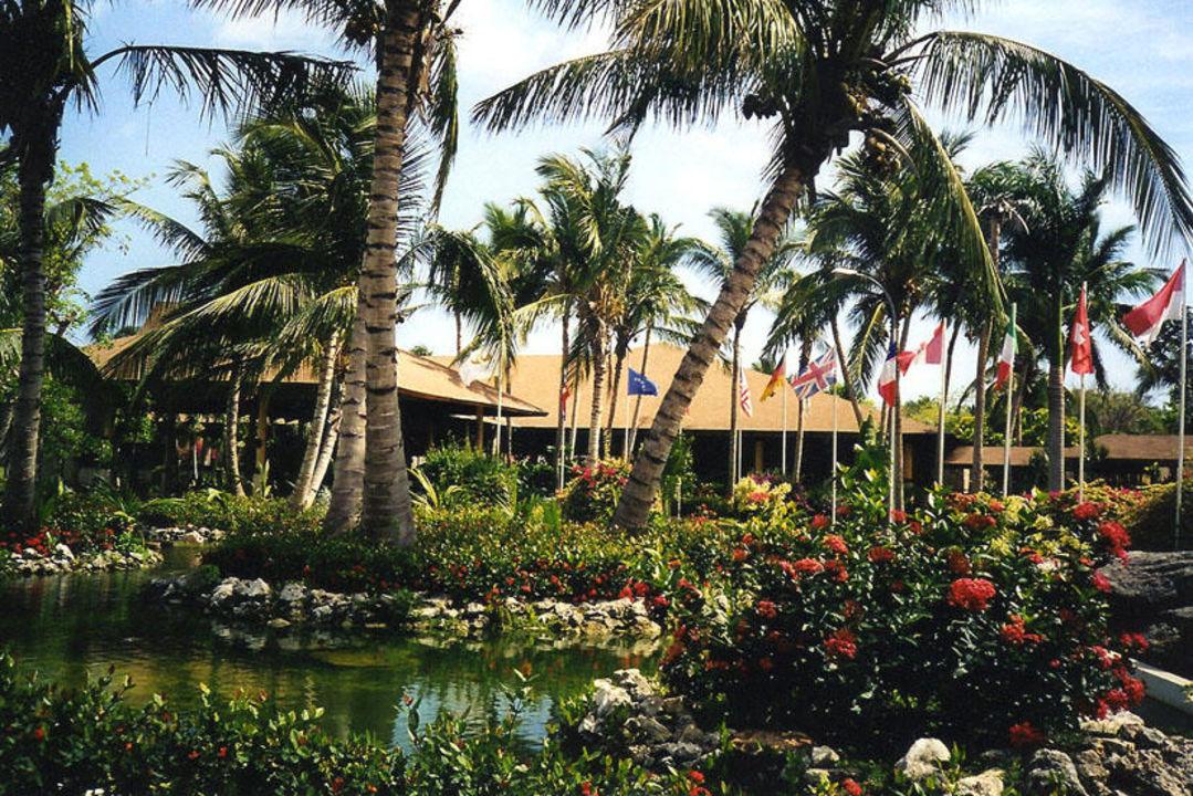 Ein Teich neben Hotelhaupteingang. Grand Palladium Bávaro Suites Resort & Spa