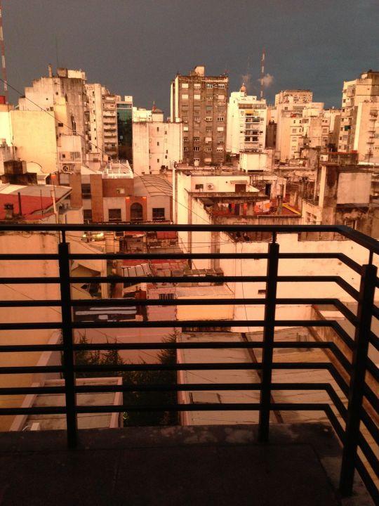 Blick vom Balkon Las Cepas Hotel de Cata & Relax