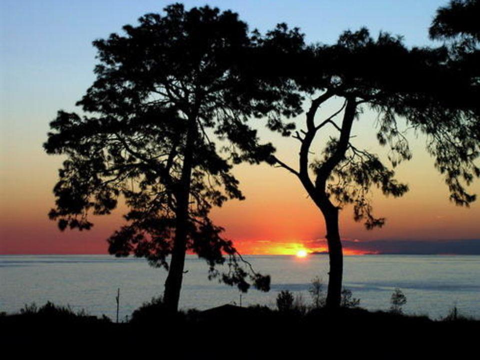Sonnenuntergang beim Club Park Conti in Incekum Justiniano Club Park Conti