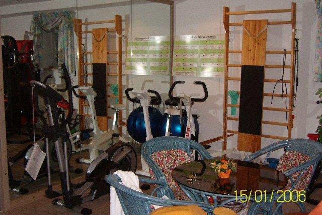 Relaxliegen im Fitnessraum Hotel Steiger