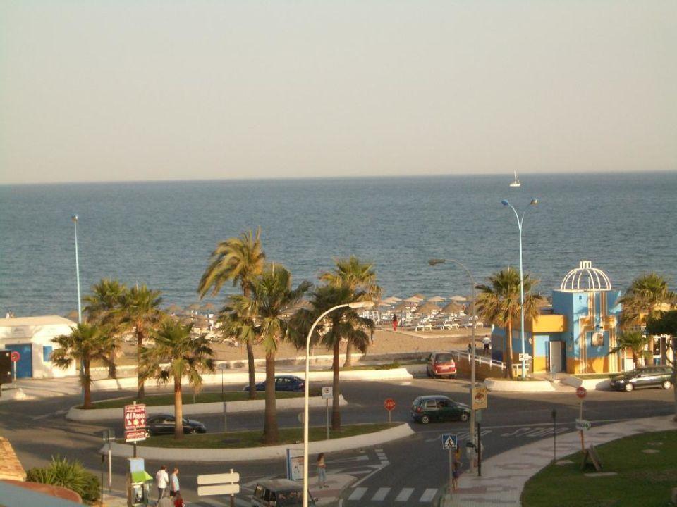 Blick zum Meer... Hotel Riu Belplaya  (Vorgänger-Hotel – existiert nicht mehr)