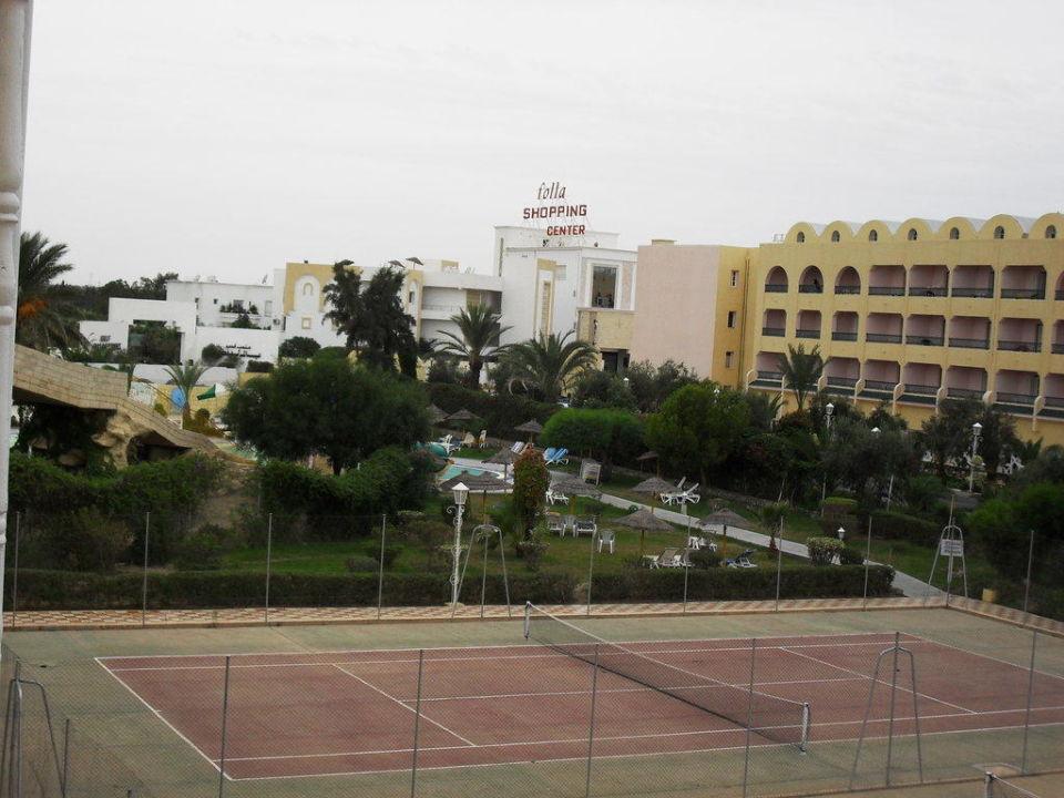 2 terrains de tennis Hotel Houda Golf & Beach Club