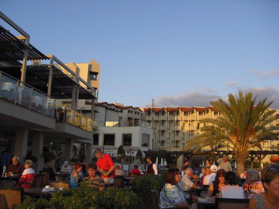 Außenanlage mit Blick zum Hotel Arcanus Side Resort