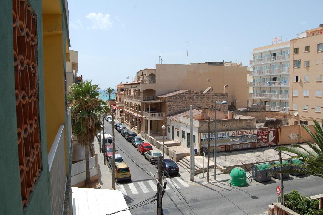 Ausblick vom Balkon Hostal Playa De Palma