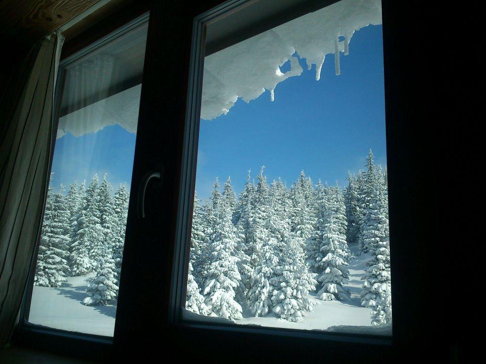 Výhled z našeho pokoje Resort Sv. František - Erlebachova Bouda