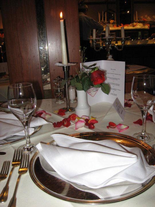 Tischdeko Beim Romantik Dinner Hotel Sonnengarten Bad Worishofen