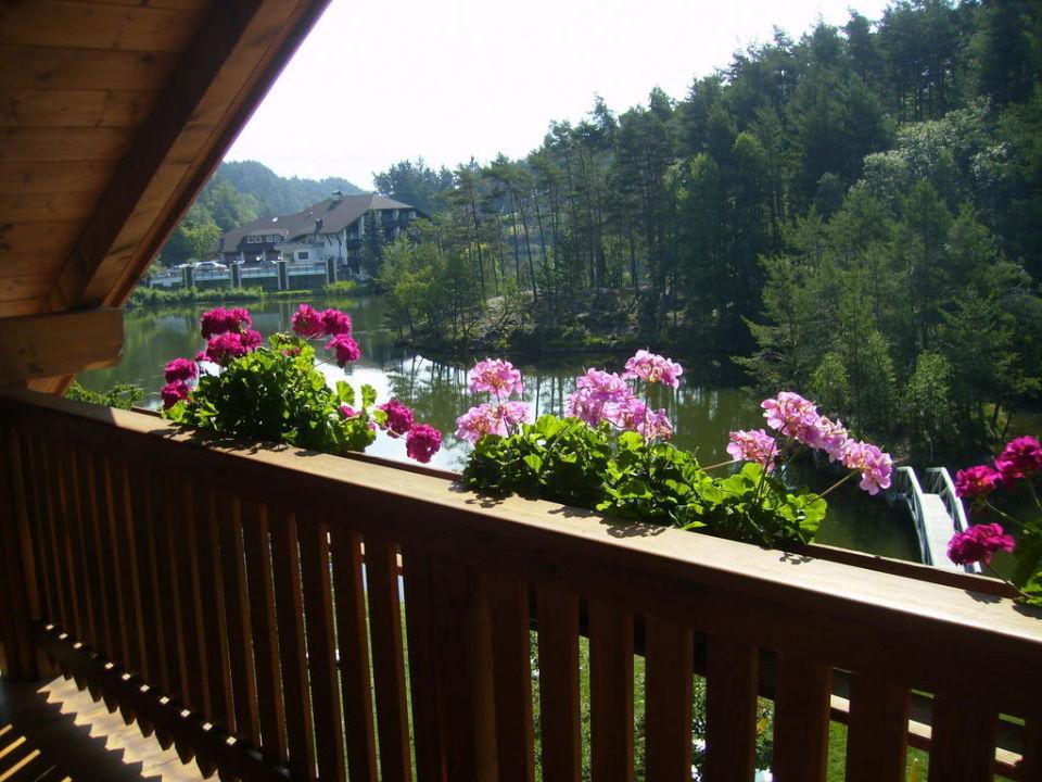 Dal terrazzino della camera Hotel Weihrerhof