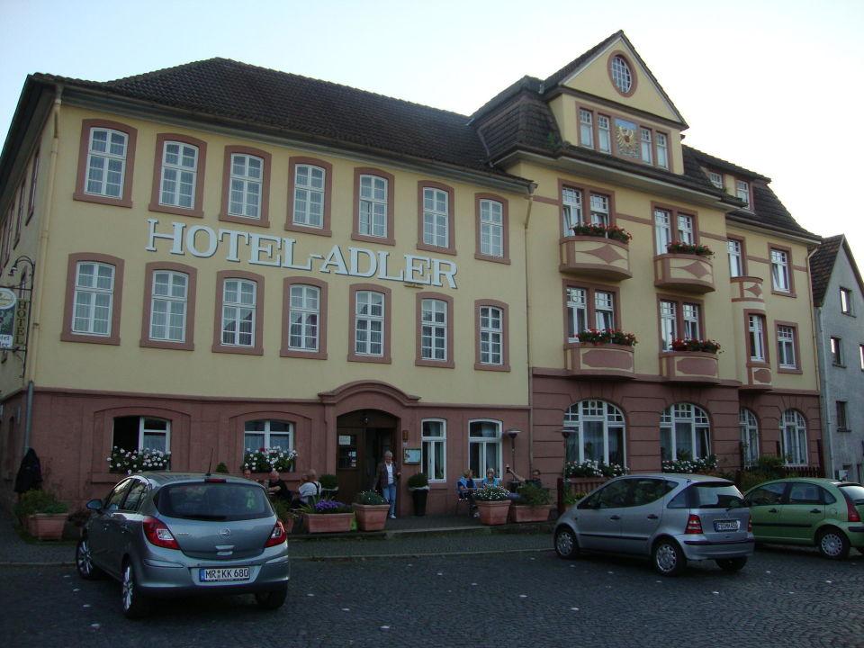 Hotel Adler in Vacha von der Marktseite aus Hotel Adler