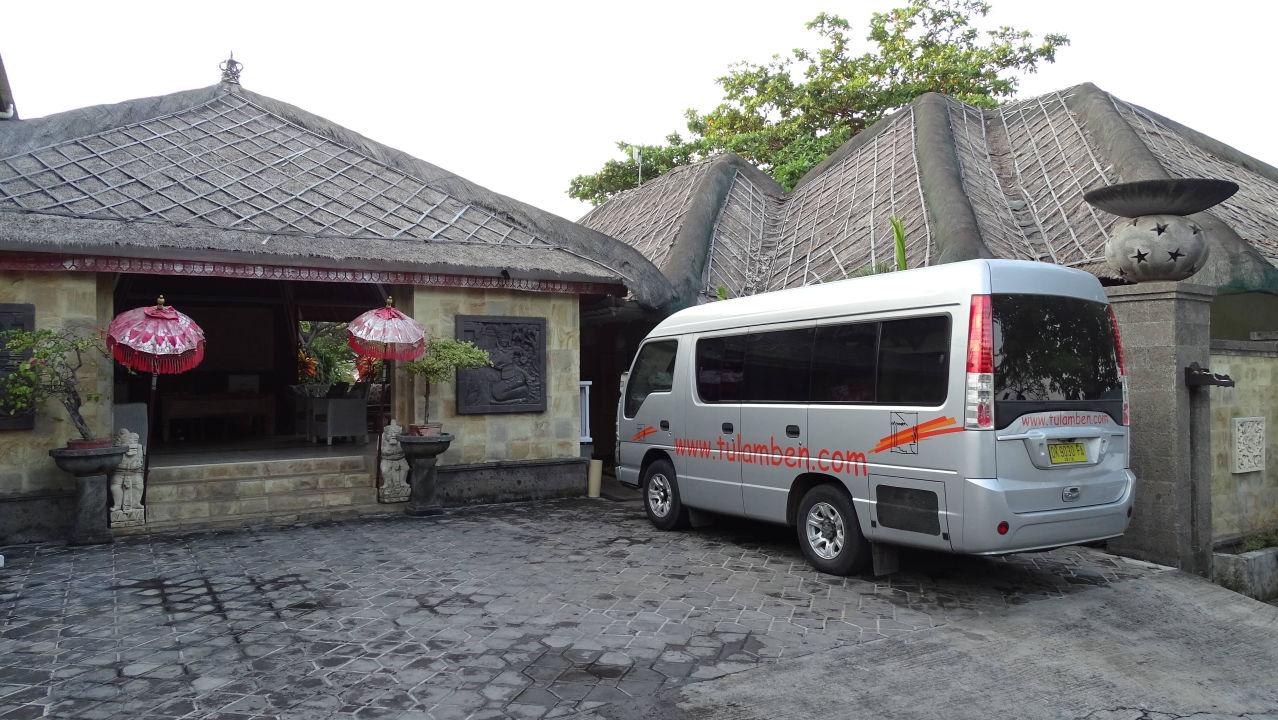 Eingangsbereich Hotel Tauch Terminal Resort Tulamben