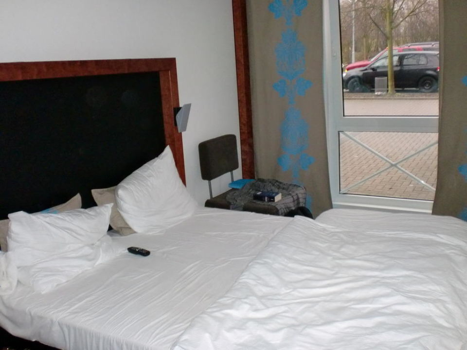 Unser Zimmer, nach der ersten Nacht B&B Hotel Düsseldorf-Ratingen