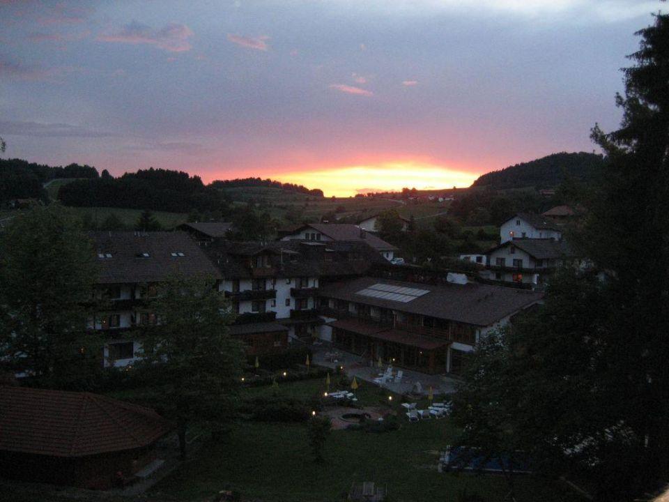 Sonnenuntergang Hotel Regenbogenland Zum Kramerwirt