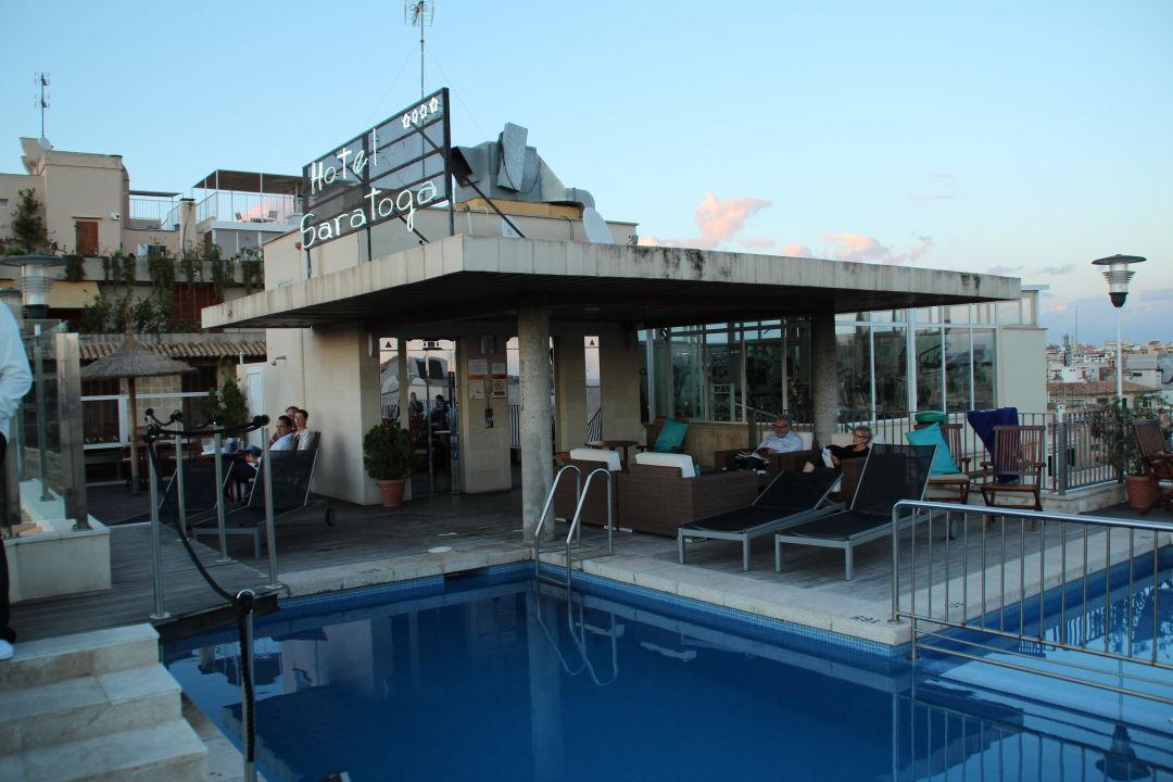 pool auf dem dach hotel saratoga palma de mallorca holidaycheck mallorca spanien. Black Bedroom Furniture Sets. Home Design Ideas
