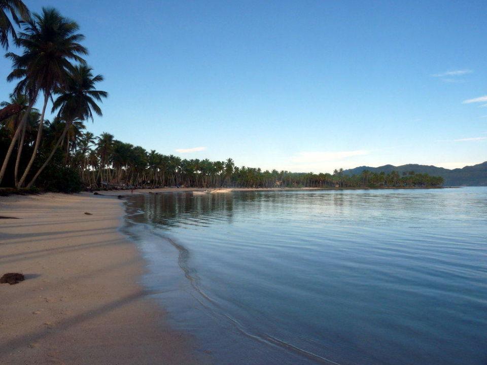 Hotelstrand im Morgen Hotel Grand Paradise Samana