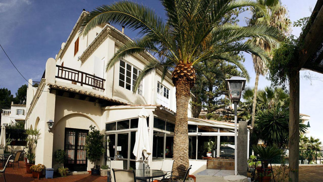 Fachada con bar y terrasa La Mimosa Guesthouse B&B