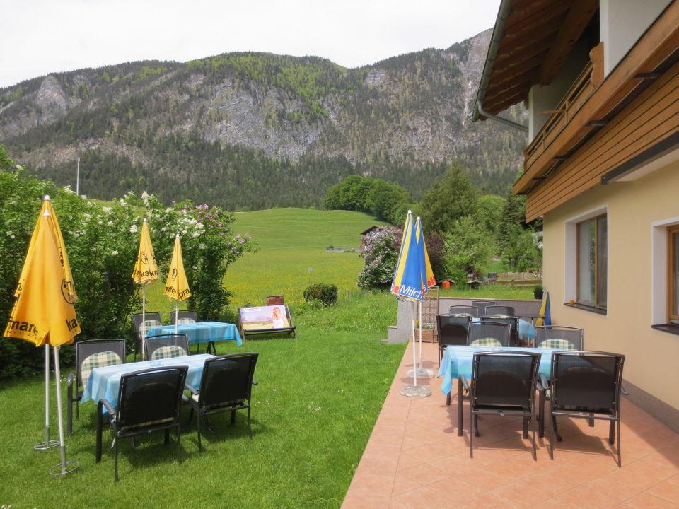 Terrasse Hotel Kraftquelle Schlossblick