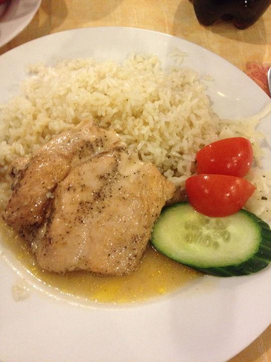 Hühnchen und Reis Hotel Slavia
