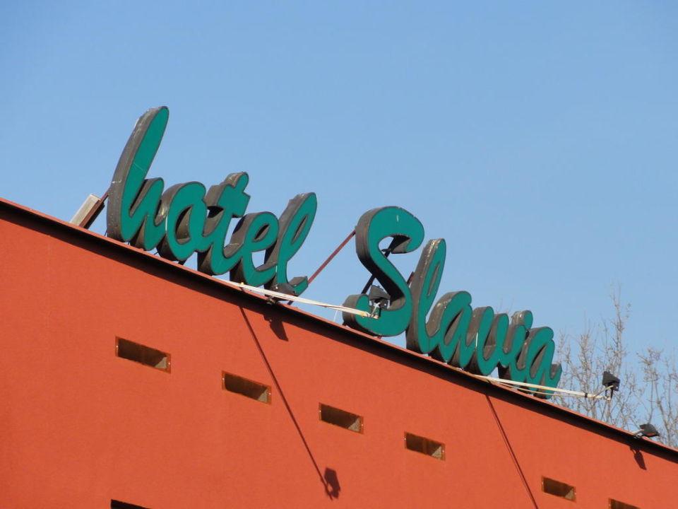 Hotel Slavia - Schriftzug Hotel Slavia