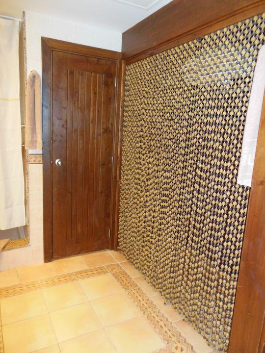 Wc Tur Geradeaus Kleiderstange Hinter Vorhang Hotel Riu Funana