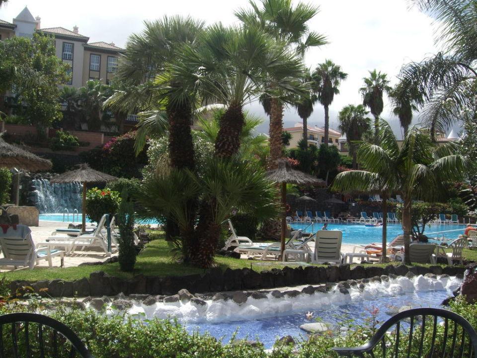 Der wunderschöne Garten  Hotel Puerto Palace