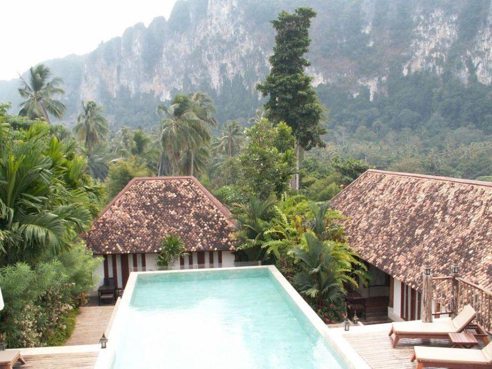 Übersicht vom Restaurant gesehen Hotel The Cliff Ao Nang