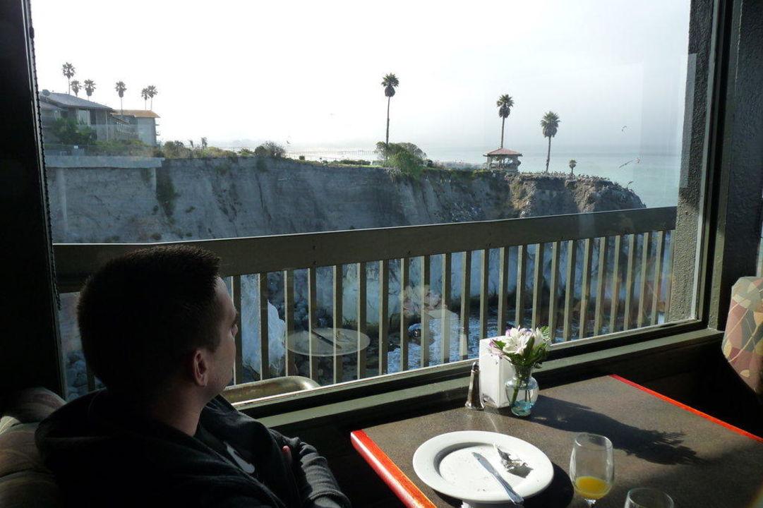Blick vom Frühstück Best Western Hotel Shore Cliff Lodge