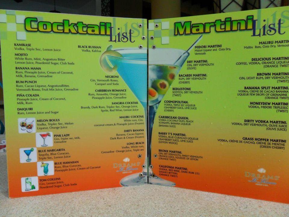 Cocktail Karte.Cocktail Karte Hilton La Romana Bayahibe Holidaycheck