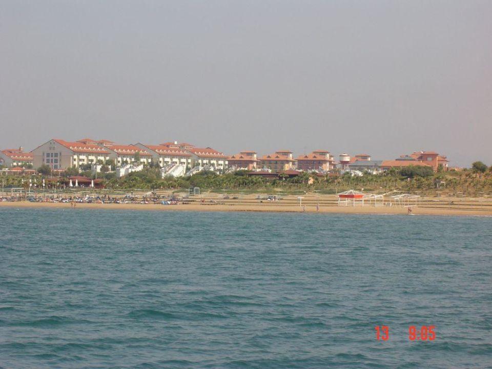 Hotelansicht vom Calypso-Boot aus Hotel Süral Resort
