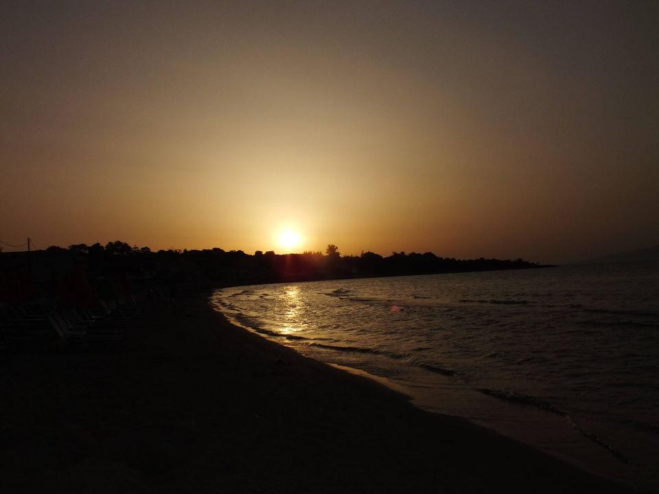 Zachód słońca Mavrikos Hotel Zante