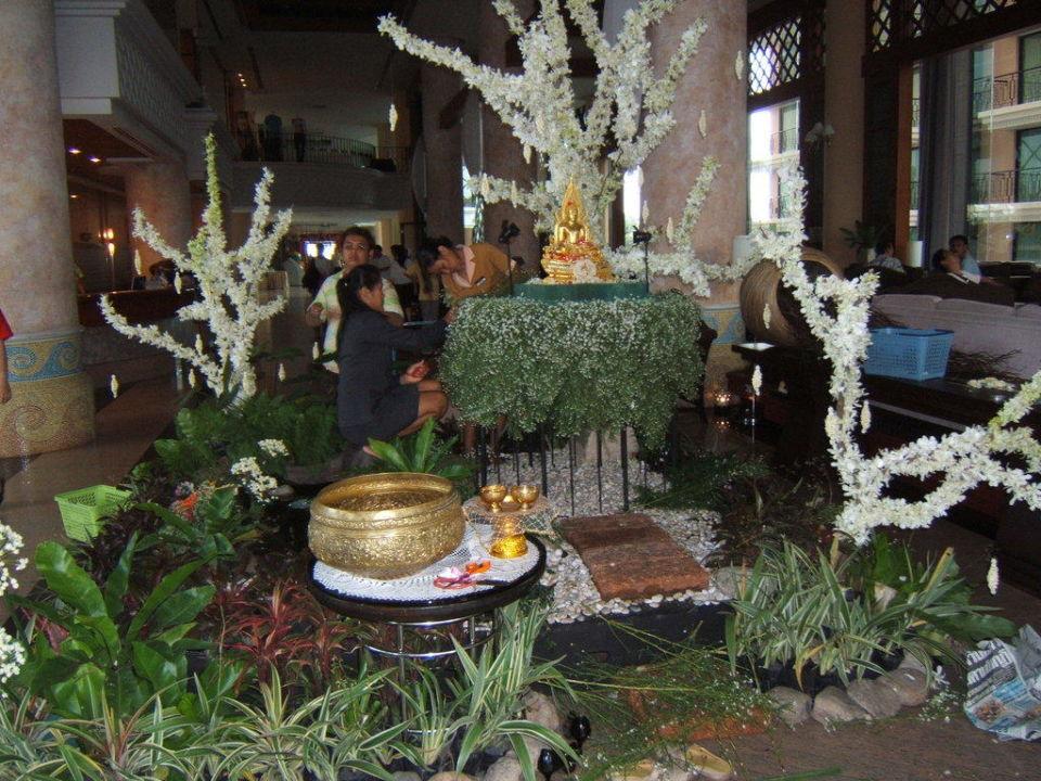 Geschmückte Lobby Hotel Long Beach Garden