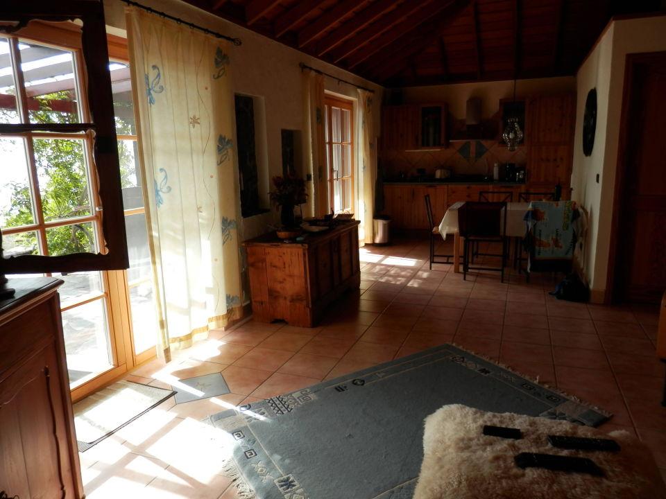 Zimmer mit Blick auf die kleine Küche Casa Petra